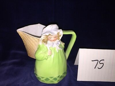 Royal Bayreuth Creamer - Light Green Milkmaid with Basket