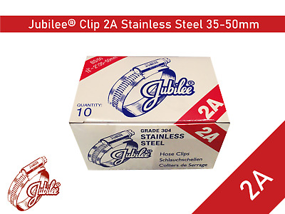 Genuine Jubilee Hose Clip Stainless Steel Hose Clamp Size 35mm-50mm Ref 2ASS