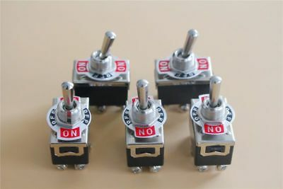 5x Heavy Duty 15A 250V AC DPDT 6 Screw Terminal  ON/OFF/ON Toggle Switch