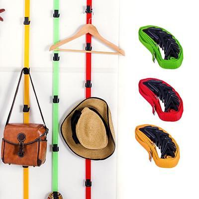 Adjustable 8-Baseball Cap Hat Holder Rack Organizer Storage Door Closet Hanger