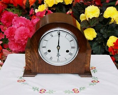 Smiths Enfield Antique Art Deco Striking Mantel Clock, 1950. Outstanding!