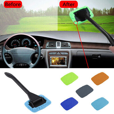 MicroFiber Windshield Clean Shine Car Auto Wiper Cleaner Glass Window Brush Pad