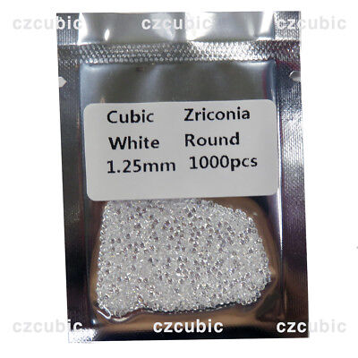 1000 Pcs Round Cubic Zirconia/Cz Stones 5A Quality 0.70 - 3.00 Mm Ship In Us No1