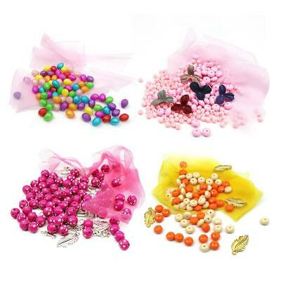 Kids Handmade DIY Beads Round Colorful Beads Child Educational Puzzle Beaded Toy