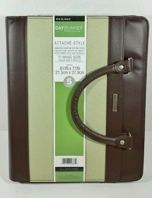 """NEW AT-A-GLANCE Day Runner Attache Organizer (Holds Size 5 Refills) 8.5""""x11"""