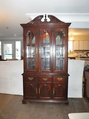 Cochrane Cherry Wood China Cabinet hutch dining room set table chairs furniture