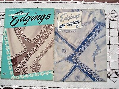 Vintage Booklets Lot of Two For Edging Handkerchiefs and Clothing By Clarks USA