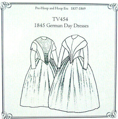 Truly Victorian Sewing pattern for German Day dress circa 1840-1853 TV454