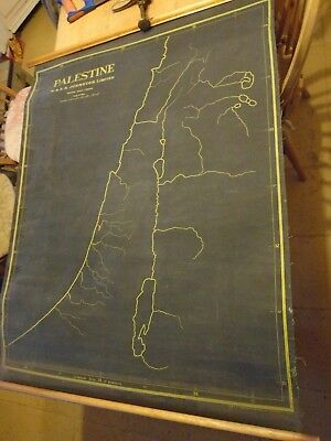 Old Map Of Palestine - W & A.k. Johnston Ltd - 36 X 44 Inches