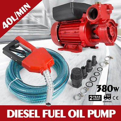 Oil Suction Pump transfer Diesel Fuel Pump 40L/min Nozzle DP40L IP44