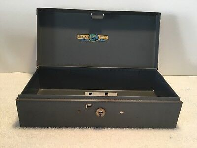 Vintage Steelmaster Locking Metal Bond Box No Key Art Steel Co Inc New York USA