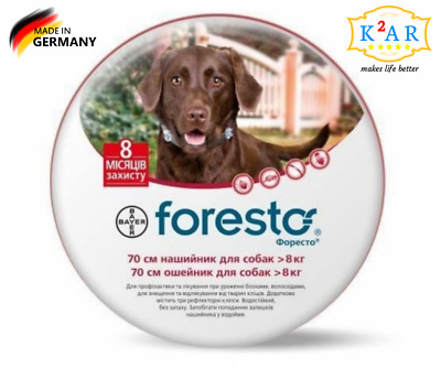 Seresto/Foresto Flea & Tick Collar for Large Dogs Over 18lbs(8kg)