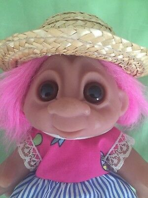 Rare Dam Troll Summer Time Girl Doll Made In Denmark Very Collectable Gift