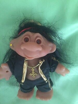 Rare Dam Troll Rastafarian  Hippie Doll Good Luck Troll Very Collectable Gift
