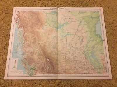 old world atlas Plate Map Western Canada