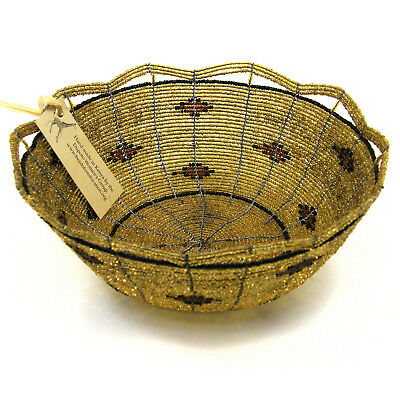 "Africa Kenya Maasai beaded bowl basket | Dupoto Women's Group | 7.5"" dia."