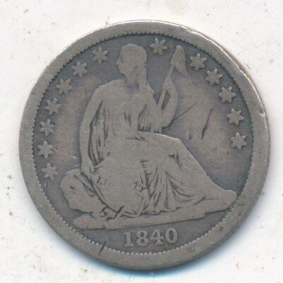 1840 Seated Liberty Silver Dime-No Drapery-Nice Circulated Dime-Ships Free!