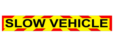 SLOW VEHICLE MAGNET MAGNETIC Sign Lorry Truck Trailer long CHEVRON Towing x 1
