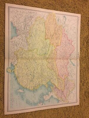 old world atlas Plate Map China Political