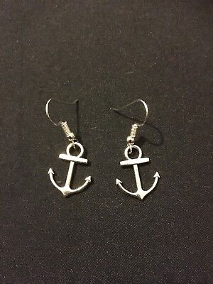 a3feeb4eb Silver Plated Anchor Earrings Nautical Jewellery Gift Present Unusual Quirky  Fun