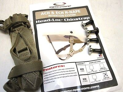 New Ops-Core Made W/ Kevlar Helmet Chinstrap Ech Ach Coyote Brown S,M,L,Xl