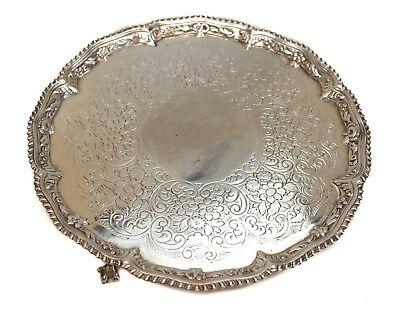 Richard Rugg I London George III Sterling Silver Salver Tray, 1767
