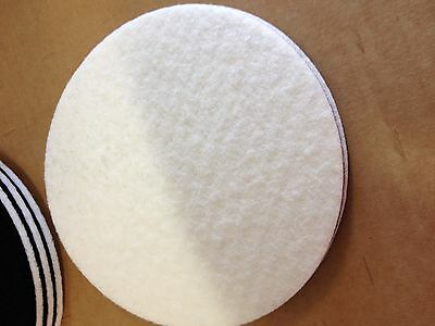 "125mm Felt Polishing Pad   Pack (5)   5"" Velour Backed Mop Buffing Finesse IT"