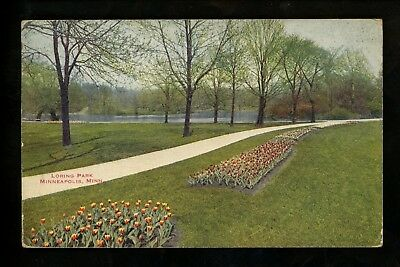 Minnesota MN postcard Minneapolis, Loring Park Vintage 1919