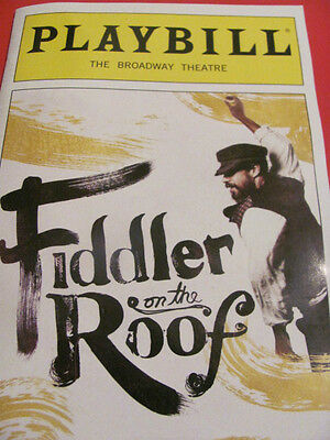 FIDDLER ON THE ROOF Playbill Broadway Musical 2015 REVIVAL NEW YORK