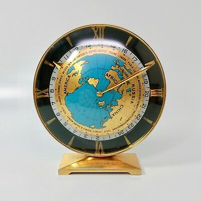 Amazing & Rare ImHof World Time GMT Clock with Planisphere Globe Map Hour Hand