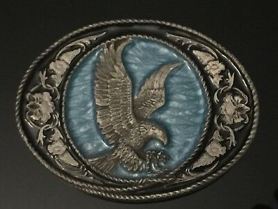 1991 Siskiyou Buckle Co. G-5 Bald Eagle Vintage Belt Buckle (American eagle)