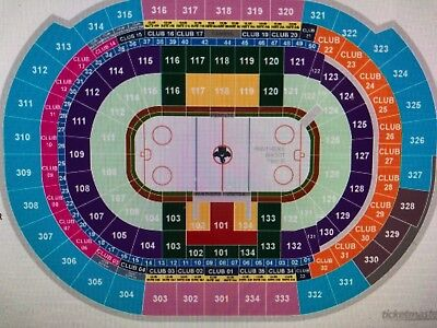 2 of 4 Florida Panthers vs Pittsburgh Penguins  Sec 112 Row 3 Tickets 2/7/19