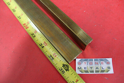 "2 Pieces 1/2"" x 1"" C360 BRASS FLAT BAR 36"" long Solid .50"" Mill Stock H02"