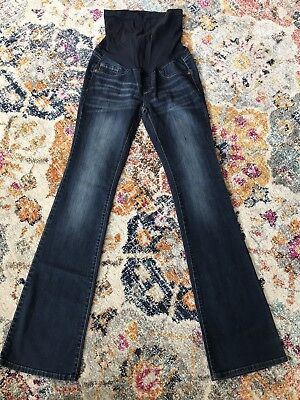 a358473f18eba PEA IN THE Pod boot cut maternity jeans full panel sz S inseam 32 ...