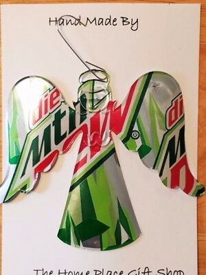 Home Made Canned Drink Art Christmas Angel Ornament