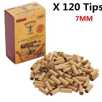 120pcs Filter Paper Pre-rolled Rolling Paper Tips Cigarette Accessories 7mm