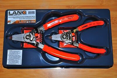 Lang kastar 1450 2 Piece Quick Switch Retaining Ring Pliers Set made in USA