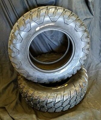 NEW x2 Pair 4x110//115 Mirror Polished ATV Rear Wheels Goldspeed 9x8 3+5
