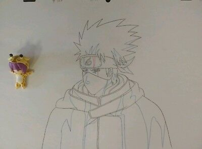 Original Anime Production Genga not cel from Naruto of Kakashi
