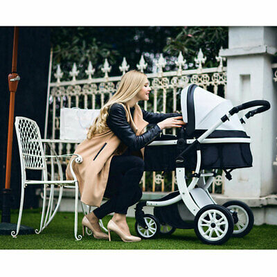Baby Foldable Pushchair Baby Stroller PU Jogger Carriage Infant Travel System