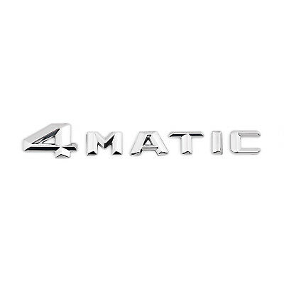 ABS 4MATIC Car Rear Trunk Lid Letters Emblem Badge Sticker Decal Fit For Benz BS