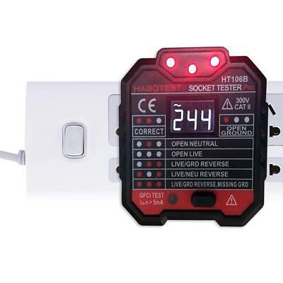 RCD Leakage Switch Detector Socket Tester With Backlight LCD Display Screen