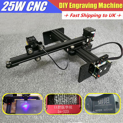 DIY 25W Desktop CNC Laser Engraving Cutter Machine Metal Wood USB Engraver Kit
