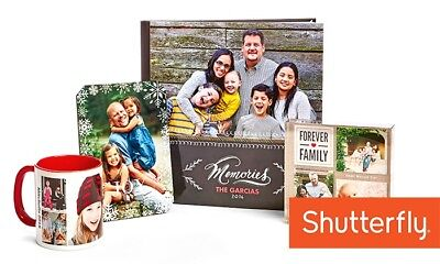 Shutterfly 50% off your order coupon expires 12/31/2018 Hoilday Cards Photobook