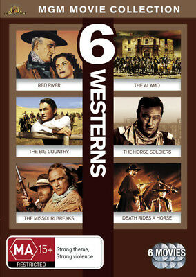 Red River/Alamo + 4 Other Western Movies Dvd Like new (C)