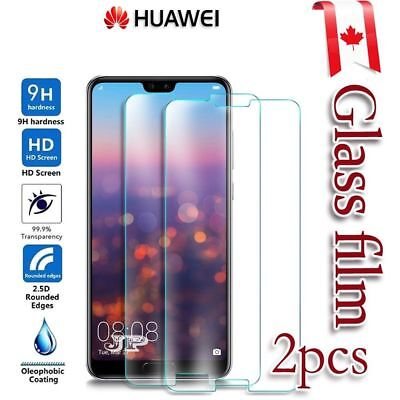 2x Tempered / Plastic Glass Screen Protector Film Guard Huawei P20