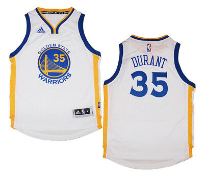 543581339fa Youth Kevin Durant  35 Golden State Warriors NBA Adidas White Swingman  Jersey