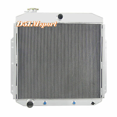 Fit 53-56 Ford F100 F250 F350 Pickup Truck L6 V8 AT//MT 2Row Aluminum Radiator