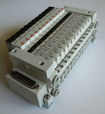 Used SMC  VV5Q11–12C4FU3-DR with 12 VQ1101R-51 valves