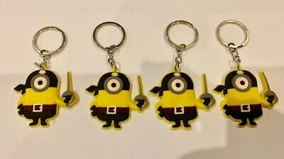 Lot of 4 Spongebob Squarepants Keyrings Perfect for loot bags /& party favours